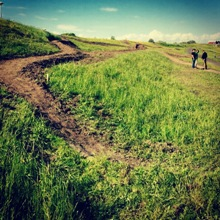 Omgevingsvisie FlevolandStraks beeld: Houtribdijk – mountainbike