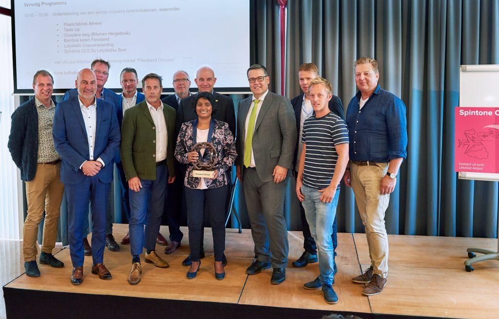 Omgevingsvisie FlevolandStraks beeld: Ondertekening circulaire ketens 07-09