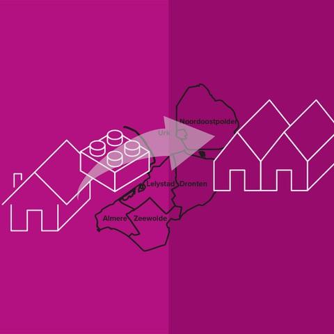 Flevolandse woningcorporaties willen circulair worden. Deze tekening illustreert dat.