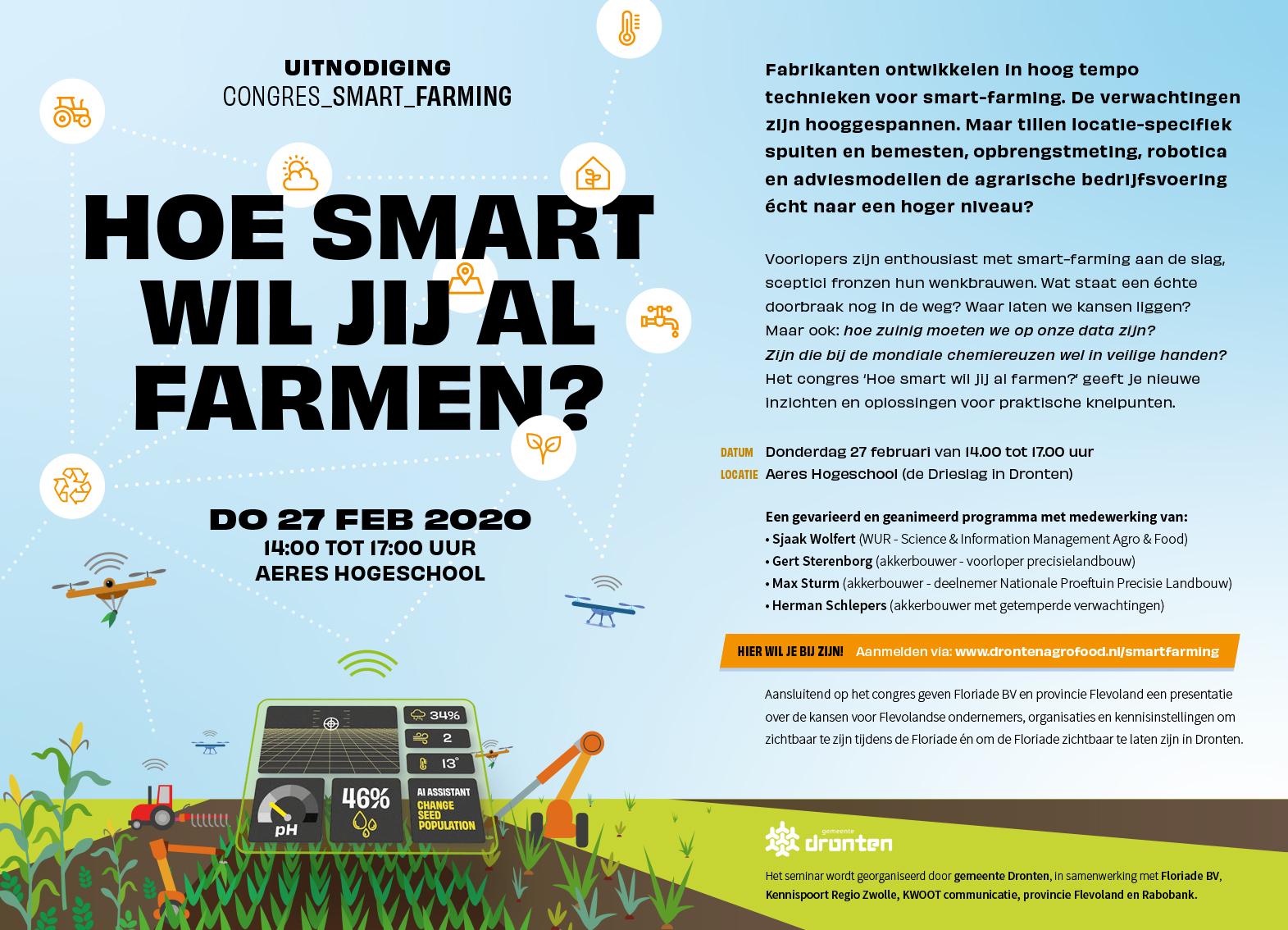 Omgevingsvisie FlevolandStraks beeld: Uitnodiging congres 270220 Smart Farming (002)